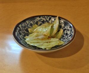 前菜のキャベツ