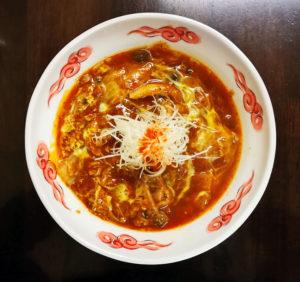花椒入り豚バラ白菜ときのこの担々麺