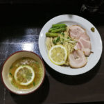 夏の塩煮干しレモンつけ麺