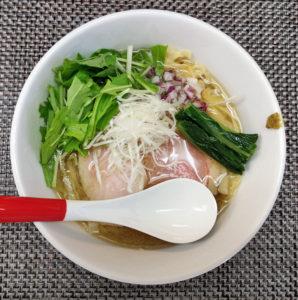 睡蓮式 鯵の冷やし手もみ麺