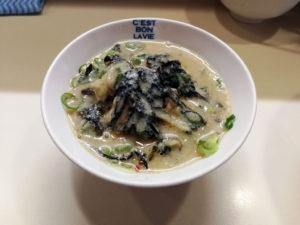 ピリ辛鶏ねぎ丼スープ