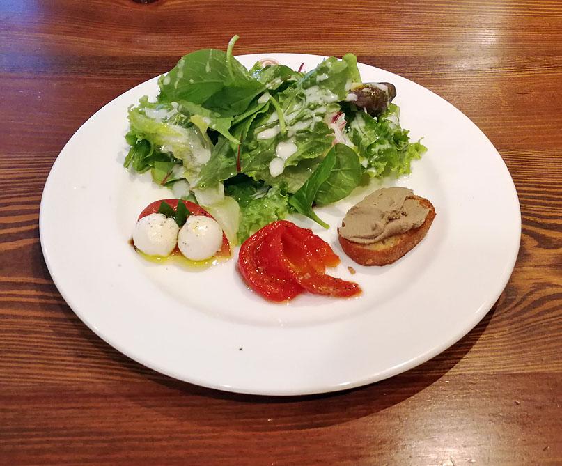 前菜3種とサラダの盛合せ